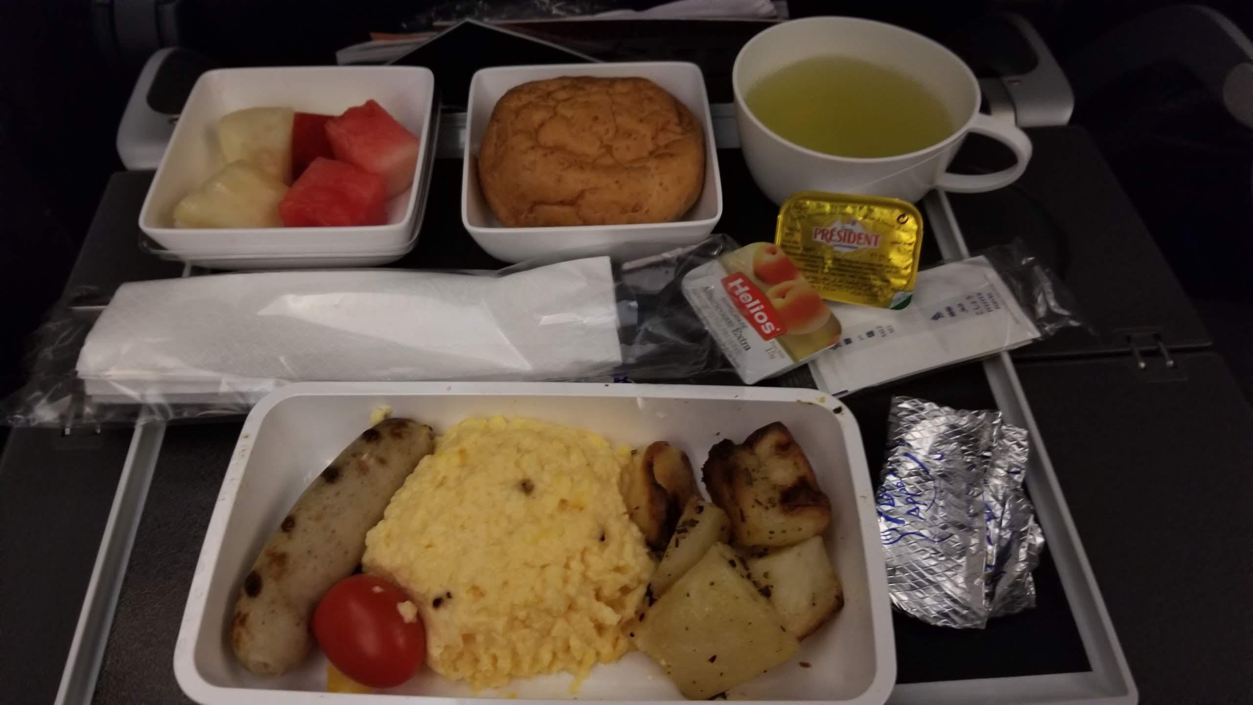 シンガポール航空朝食